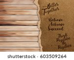 ripped paper on texture of wood ...   Shutterstock .eps vector #603509264