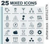 set of 25 universal editable... | Shutterstock .eps vector #603512774