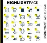 set of 25 universal editable... | Shutterstock .eps vector #603513968