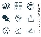set of 9 ecommerce icons.... | Shutterstock .eps vector #603514670