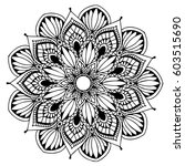 mandalas for coloring book.... | Shutterstock .eps vector #603515690