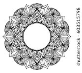 mandalas for coloring book.... | Shutterstock .eps vector #603515798