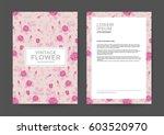 vintage flower background for... | Shutterstock .eps vector #603520970