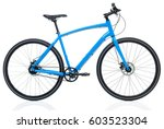 new blue bicycle isolated on a... | Shutterstock . vector #603523304