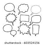 balloon speech set | Shutterstock .eps vector #603524156