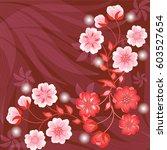 wedding card or invitation... | Shutterstock .eps vector #603527654