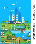 ecosystem   modern city and the ... | Shutterstock .eps vector #603530738