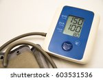digital measuring blood... | Shutterstock . vector #603531536