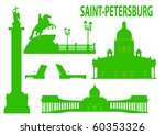 saint petersburg skyline and... | Shutterstock .eps vector #60353326