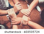 hands were a collaboration... | Shutterstock . vector #603535724
