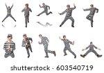 funny prison inmate in concept | Shutterstock . vector #603540719