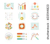 data analytic colorful... | Shutterstock . vector #603544823