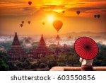 unidentified burmese woman... | Shutterstock . vector #603550856