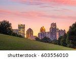midtown atlanta skyline from... | Shutterstock . vector #603556010