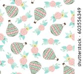 seamless vector pattern with... | Shutterstock .eps vector #603556349