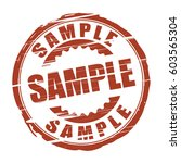sample grunge stamp. | Shutterstock . vector #603565304