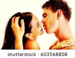 close up of a nude couple... | Shutterstock . vector #603568808