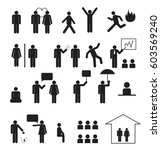 sign of people life set... | Shutterstock .eps vector #603569240
