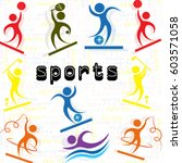 sports | Shutterstock .eps vector #603571058
