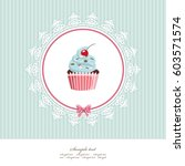 greeting card template with... | Shutterstock .eps vector #603571574