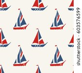 retro nautical seamless pattern ... | Shutterstock .eps vector #603576599