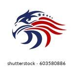 american eagle patriotic logo  | Shutterstock .eps vector #603580886
