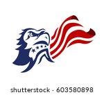 american eagle patriotic logo  | Shutterstock .eps vector #603580898