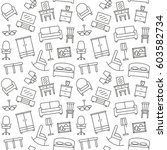 furniture seamless pattern.... | Shutterstock .eps vector #603582734
