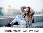 fashionable woman | Shutterstock . vector #603595460