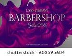 barbershop business card promo... | Shutterstock .eps vector #603595604