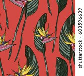 floral seamless pattern with... | Shutterstock .eps vector #603596639