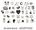 scandinavian art style of... | Shutterstock .eps vector #603597650