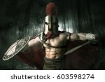 ancient warrior or gladiator...   Shutterstock . vector #603598274
