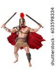 ancient warrior or gladiator... | Shutterstock . vector #603598334