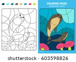 underwater world coloring page... | Shutterstock .eps vector #603598826