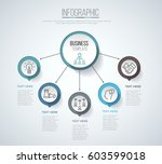 five steps infographics with... | Shutterstock .eps vector #603599018