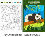 wild animals coloring page for... | Shutterstock .eps vector #603599213