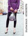 fashionable young woman in... | Shutterstock . vector #603608096