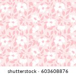 Stock vector vector seamless background with wild roses vintage style hand drawn fabric design stylish pink 603608876