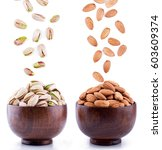 Almonds And Pistachios Falling...