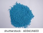 easter powder on the cake  blue. | Shutterstock . vector #603614603