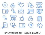 feedback and testimonials icon... | Shutterstock .eps vector #603616250