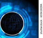 modern global technology vector ... | Shutterstock .eps vector #603618284