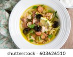 traditional russian soup... | Shutterstock . vector #603626510