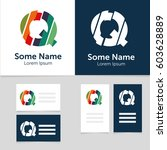editable business card template ... | Shutterstock .eps vector #603628889