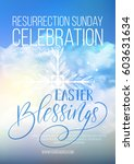 easter blessings  vector easter ... | Shutterstock .eps vector #603631634