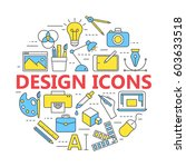 graphic design icons  vector... | Shutterstock .eps vector #603633518