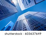 looking up at business... | Shutterstock . vector #603637649