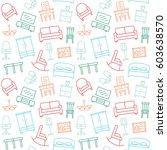 furniture seamless pattern.... | Shutterstock . vector #603638570