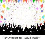 a crowd of people. vector... | Shutterstock .eps vector #603640094